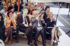 Minister's Giannini and honorable L. Berlinguer at the Lucrezia's exibition